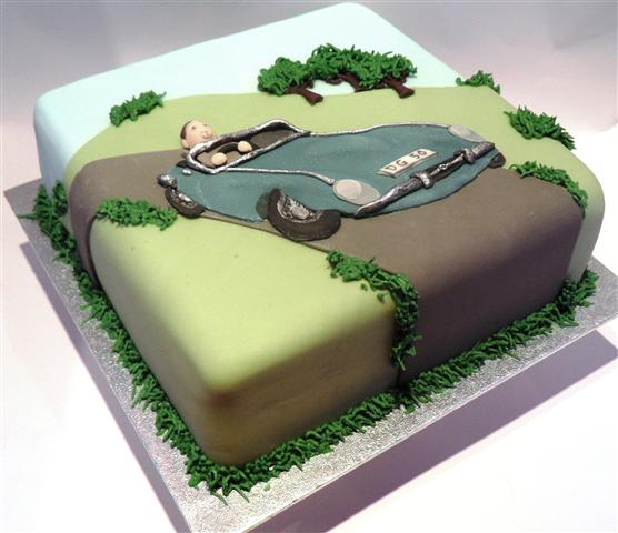 E Type Jaguar Birthday Cake